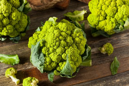 Raw Organic Green Broccoli Cauliflower Ready for C...