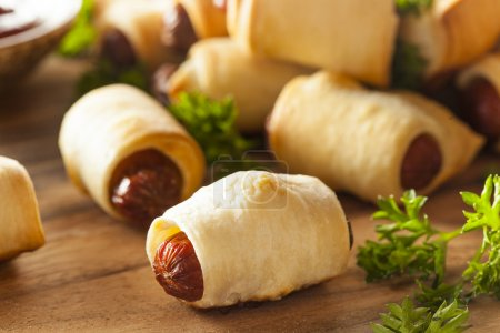 Homemade Pigs in a Blanket Ready to Eat...