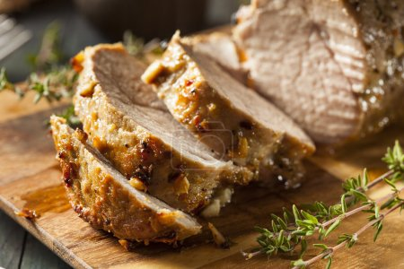 Photo for Homemade Hot Pork Tenderloin with Herbs and Spices - Royalty Free Image