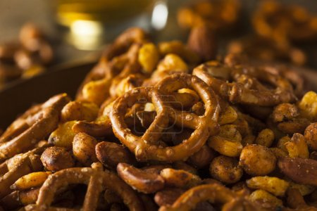 Seasoned Pub Snack Mix with Nuts and Pretzels...