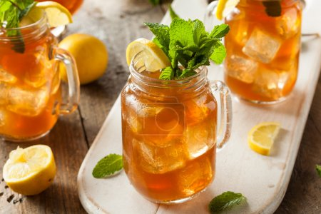 Photo for Homemade Iced Tea and Lemonade with Mint - Royalty Free Image