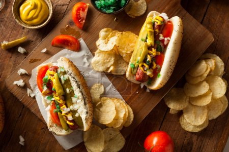 Homemade Chicago Style Hot Dog