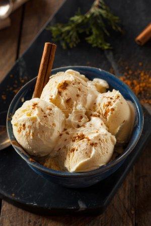 Cold Homemade Eggnog Ice Cream