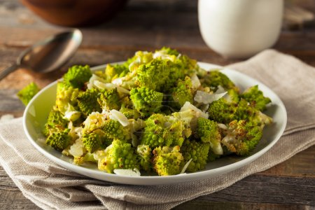 Organic Green Baked Romanesco with Cheese and Pepp...