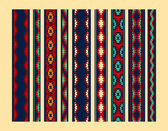 Colorful red yellow blue aztec ornaments geometric ethnic seamless borders set vector