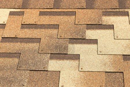 Background. Soft roof. Tile.