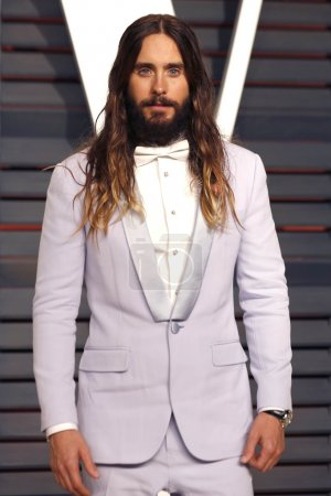 Photo pour LOS ANGELES - FEB 22:  Jared Leto at the Vanity Fair Oscar Party 2015 at the Wallis Annenberg Center for the Performing Arts on February 22, 2015 in Beverly Hills, CA - image libre de droit