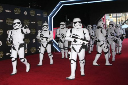 Photo for LOS ANGELES - DEC 14:  Storm Troopers at the Star Wars: The Force Awakens World Premiere at the Hollywood & Highland on December 14, 2015 in Los Angeles, CA - Royalty Free Image