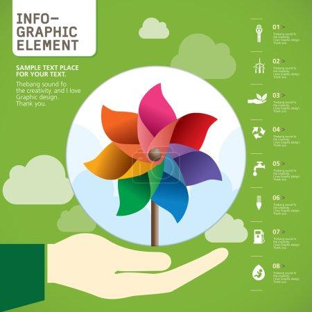 Pinwheel INFO-GRAPHIC element , Vector