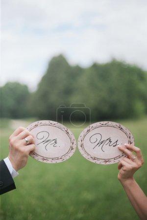étiquettes décoratives de mariage