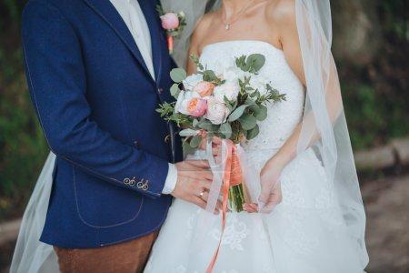 Hochzeit. der Bräutigam und die Braut