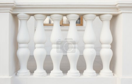 Balustrade Pillars, close up photo