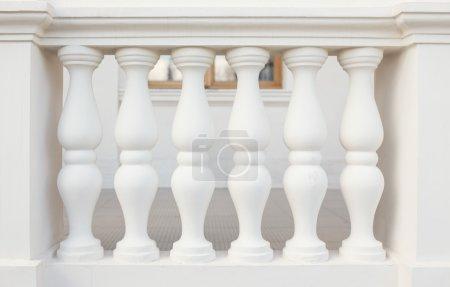 Balustrade Pillars, close up photo