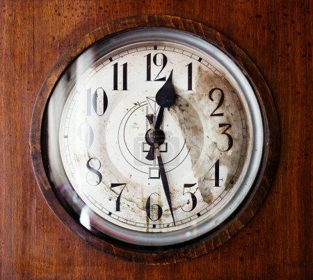 Antique grandfather clock, close up photo