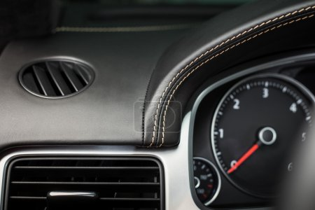 Close up interior modern car