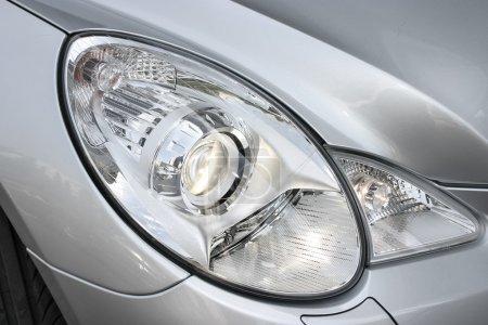 Closeup headlights of car