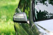 Modern turn signal on rear view mirror