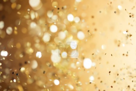 Photo for Christmas gold background. Golden holiday glowing abstract glitter defocused background - Royalty Free Image
