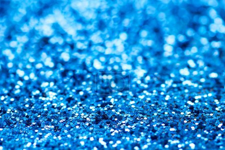 Blue glitter christmas abstract background