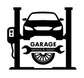 Auto center garage service and repair logoVector Template