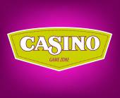 Casino vector icon Banner with casino logo badges Vector illus