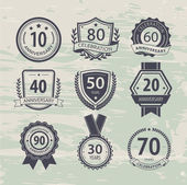 Anniversary sign collection retro design