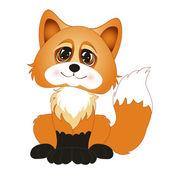Roztomilý kreslený liška. Vektorové ilustrace