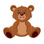 Šťastný medvídek. vektorové ilustrace