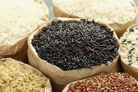 black rice isolated
