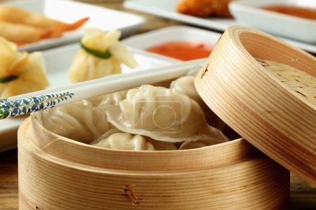 close up  asian food  dim sum
