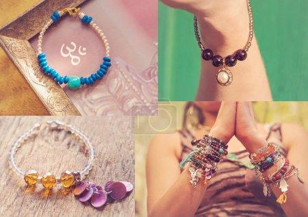 Collection of yoga bracelets
