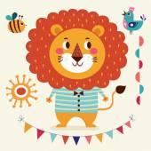 Lovely cute lion