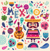 illustration about Mexico