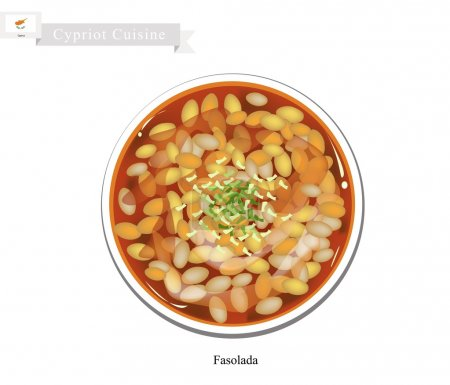 Cypriot Cuisine, Fasolada or Bean Soup made with C...