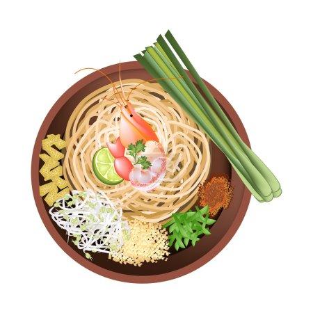 Pad Thai or Stir Fried Noodles with Prawn