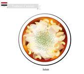 Saltah or Yemeni Meat Stew with Vegetables