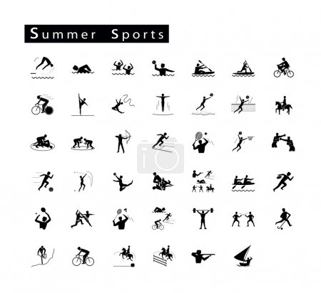 Set of 41 Summer Sport Icons