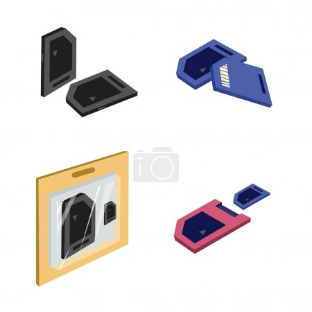 Set of SD card or Media Cards