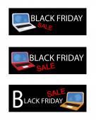 Mobile Computer on Black Friday Sale Background