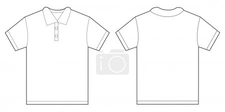 White Polo Shirt Design Template For Men