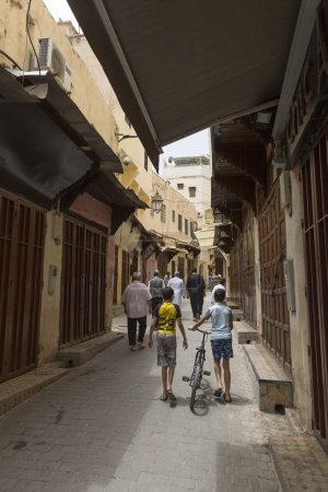 People in a souk