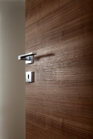 colored wooden door open e