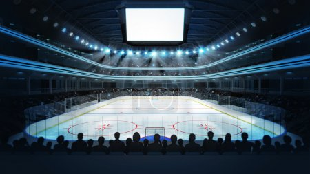 Hockey stadium with spectators