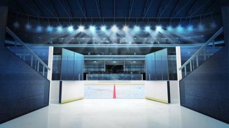 Hockey stadium with open doors