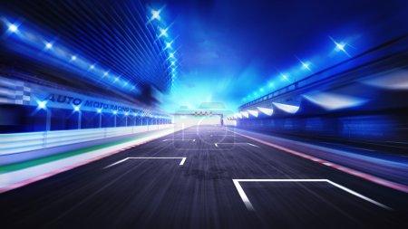 Photo for Racing sport digital background illustration - Royalty Free Image