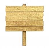 Dřevěné prázdný stůl na tyčce