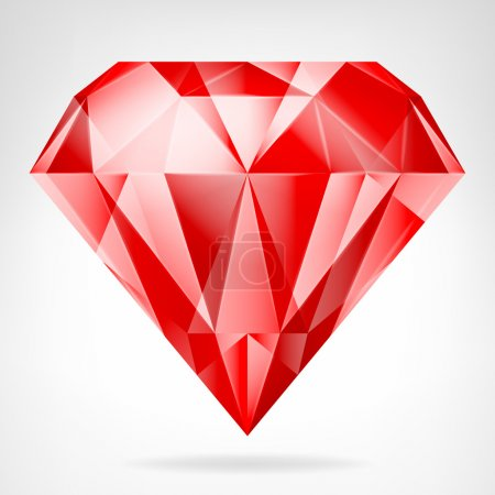 red ruby side view vector