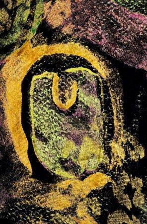 Photo pour Fond peint à la maison tissu textile manuellement - image libre de droit
