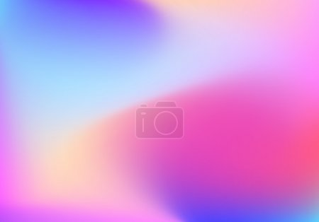 Illustration for Abstract blur gradient background with trend pastel pink, purple, violet, yellow and blue colors for deign concepts, wallpapers, web, presentations and prints. Vector illustration. - Royalty Free Image