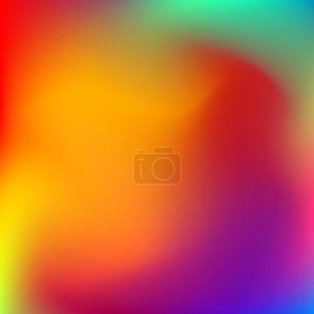 Illustration pour Résumé fond dégradé de couleur orange et bleu flou pour le web, présentations et impressions. Illustration vectorielle . - image libre de droit